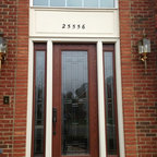 Doors - Provia front entry door with sidelights.