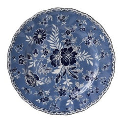 Johnson Brothers Casual Devon Cottage Earthenware Salad Plate - Set of 6 - Add color and elegance to your table with the Johnson Brothers Casual Devon Cottage Earthenware Pasta Bowl - Set of 6. Intricately designed with a bold blue background accented by deep blue flowers and white leaves, these gorgeous plates also features a scalloped designed around the edge. Dishwasher and microwave safe, this set is crafted from strong and durable earthenware.About WedgwoodThrough highly skilled craftsmanship and the highest quality standards, Wedgwood manufactures quality ceramics with sophisticated, classical, and contemporary design. With a tradition of innovation, quality, and craftsmanship, Wedgwood designs are widely acknowledged as timeless, elegant, classic, and understated. Their design teams work with external designers for cross-pollination of ideas and experience. Founded in 1759 by Josiah Wedgwood, Wedgwood has been an international company determined to uphold their standards in order to maintain their leadership in the world's markets. Though their roots are over two centuries old, the company strives to stay current through partnerships with fashion designers Jasper Conran and Vera Wang with whom they've developed contemporary and stylish ranges that appeal to the younger consumers.