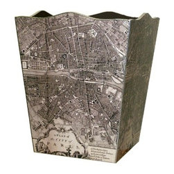 Antique Paris Map Decoupage Wastebasket - Technically this is a wastebasket, but why not get creative and repurpose it for umbrellas? Paris is hard to resist.