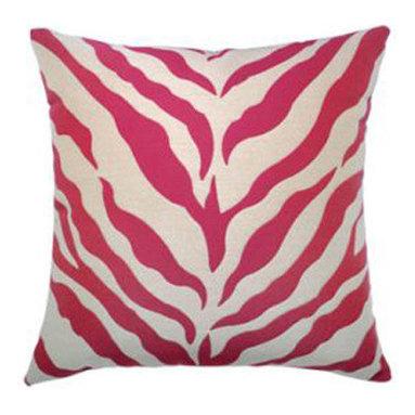 """New Elaine Smith Pillows - Kaleidoscope Zebra Pink - 20"""" x 20"""" Elaine Smith Pillows"""