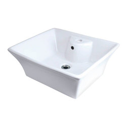"""MR Direct - MR Direct V150-W White Porcelain Vessel Sink - The V150-White porcelain vessel sink offers a unique, modern look for any bathroom. It is made from true vitreous China, which is triple glazed and triple fired to ensure your sink is durable and strong. Our bisque color is a beige hue that contains a yellow tint. Because this sink is a vessel, no mounting hardware is needed. The overall dimensions for the p051vb are 19 3/4"""" x 16 5/8"""" x 7 3/8"""" and a 21"""" minimum cabinet size is required. Vessel sinks require a special spring-loaded pop-up drain, which we offer in a variety of finishes to fit your decor. As always, our porcelain sinks are covered under a limited lifetime warranty for as long as you own the sink."""