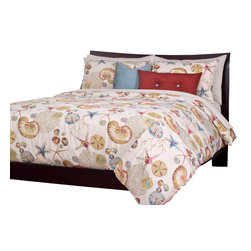 SIS Covers - SIS Covers Naples Coral Duvet Set - 6 Piece Full Duvet Set - 5 Piece Twin Duvet Set Duvet 67x88, 1 Std Sham 26x20, 1 16x16 dec pillow, 1 26x14 dec pillow. 6 Piece Full Duvet Set Duvet 86x88, 2 Std Shams 26x20, 1 16x16 dec pillow, 1 26x14 dec pillow. 6 Piece Queen Duvet Set Duvet 94x98, 2 Qn Shams 30x20, 1 16x16 dec pillow, 1 26x14 dec pillow. 6 Piece California King Duvet Set Duvet 104x100, 2 King Shams 36x20, 1 16x16 dec pillow, 1 26x14 dec pillow6 Piece King Duvet Set Duvet 104x98, 2 Kg Shams 36x20, 1 16x16 dec pillow, 1 26x14 dec pillow. Fabric Content 1 82 Polyester 18 Rayon, Guarantee Workmanship and materials for the life of the product. SIScovers cannot be responsible for normal fabric wear, sun damage, or damage caused by misuse. Care instructions Machine Wash. Features Reversible Duvet and Shams.