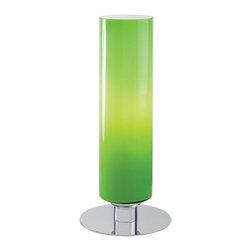 Minka George Kovacs - Minka George Kovacs Decorative Portables 1-Light Green Cased Glass Table Lamp - This 1-Light Table Lamp has a Chrome Finish and Green Cased Glass.