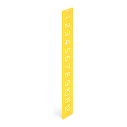 Poppin - Ruler, Yellow - If eye-popping color and sleek design are any measure of success, then this ruler moves to the head of the class. It features bold lines and easy-to-read numbers, and with 13 inches of acrylic and a choice of 16 colors, there are at least 208 reasons to get in line.