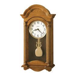 Howard Miller - Howard Miller Dual Chime Grandfather Oak Wall Clock   AMANDA - 625282 Amanda