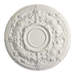 uDecor - MD-7112 Ceiling Medallion - Ceiling medallions and domes are manufactured with a dense architectural polyurethane compound (not Styrofoam) that allows it to be semi-flexible and 100% waterproof. This material is delivered pre-primed for paint. It is installed with architectural adhesive and/or finish nails. It can also be finished with caulk, spackle and your choice of paint, just like wood or MDF. A major advantage of polyurethane is that it will not expand, constrict or warp over time with changes in temperature or humidity. It's safe to install in rooms with the presence of moisture like bathrooms and kitchens. This product will not encourage the growth of mold or mildew, and it will never rot.