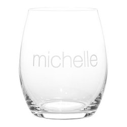 Classic Handblown Stemless Wineglass - Stemless wineglasses take the worry of spilled wine out of the equation. These hand-blown glasses from Mark & Graham can also be personalized for permanent enjoyment.