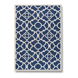 Frontgate - Lovely Lattice Outdoor Rug - Outdoor rugs create areas for dining, conversation or relaxing. Luckily, they're now available in classic designs that look as though they could live inside. Choose one that complements the decor and catches your eye.