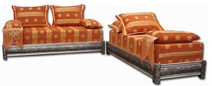 Mediterranean Upholstered Benches by Justmorocco