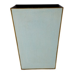 Tapered Metal Wastebasket