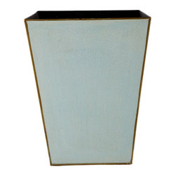 Tapered Metal Wastebasket - Wastebaskets are just one of life's necessities, but they needn't be boring. These tapered iron wastebaskets will add a bit of décor and color to any room.