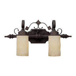 Capital Lighting - Capital Lighting River Crest Traditional Bathroom / Vanity Light X-521-IR2091 - Handsome design. Vanity fixture is from the River Crest Collection, finished in Rustic Iron with Rust Scavo glass.