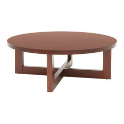 Regency - Regency Chloe Round Veneer Coffee Table in Cherry - Regency - Coffee Tables - HWTC3713CH