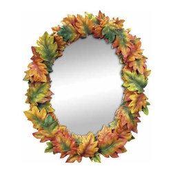 WL - 16 Inch Autumn Oak Leaves Surrounding the Photo Frame of Large Mirror - This gorgeous 16 Inch Autumn Oak Leaves Surrounding the Photo Frame of Large Mirror has the finest details and highest quality you will find anywhere! 16 Inch Autumn Oak Leaves Surrounding the Photo Frame of Large Mirror is truly remarkable.