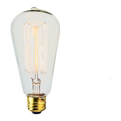 Manhattan Project Design Shop - 30 Watt Light Bulb - This 30 WATT LIGHT BULB makes a perfect companion to your new lamp. Each bulb features clear-glass and exposed carbon filaments, and will enhance any lamp with some industrial, old-school charm.