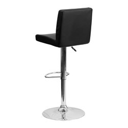 Flash Furniture - Flash Furniture Barstools Residential Barstools X-GG-KB-66029-HC - This dual purpose stool easily adjusts from counter to bar height. The simple design allows it to seamlessly accent any area in the home. Not only is this stool stylish, but very comfortable to provide you with an amazing sitting experience! The easy to clean vinyl upholstery is an added bonus when stool is used regularly. The height adjustable swivel seat adjusts from counter to bar height with the handle located below the seat. The chrome footrest supports your feet while also providing a contemporary chic design. [CH-92066-BK-GG]