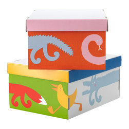 Eva Lundgreen - BARNSLIG RINGDANS Box with lid - Box with lid, multicolor