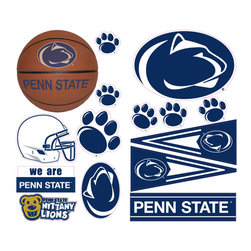 York Wallcoverings - Penn State Nittany Lions 26pc College Wall Accent Stickers - Features: