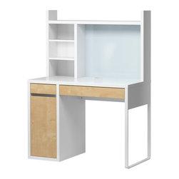 Henrik Preutz - MICKE Computer work station - Computer work station, white, birch effect