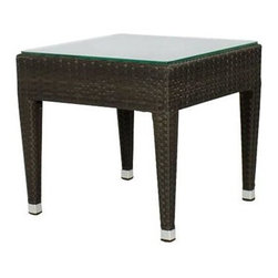 Source Outdoor Furniture - Source Outdoor Furniture Zen 20 Square End Table - Since 2009 Source Outdoor has been committed to offering customers the finest in contemporary seating dining and lounging furniture for residential commercial and hospitality spaces. Source Outdoor Furniture company has rapidly expanded as they worked with retailers interior designers individual buyers and owners or operators of restaurants and hotels to design and build pieces tailored to fit any outdoor patio space. Source Outdoor are committed to anticipating voids trends and opportunities in the marketplace as they believe creativity and quality are the cornerstones of our success. In fact over half Source Outdoor Furniture products are currently manufactured in Miami by in-house skilled seamstresses and craftsmen. Not only are these products proudly made in America but Source Outdoor also have an advantage with increased year-round inventory and faster turnaround.