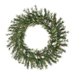 """Vickerman - Mixed Country Pine Wreath 220T (48"""") - 48"""" Mixed Country Pine Wreath With 220 Tips, 60 Cones, Grapevines."""