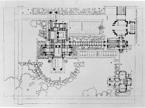 Modern Floor Plan Darwin D. Martin House