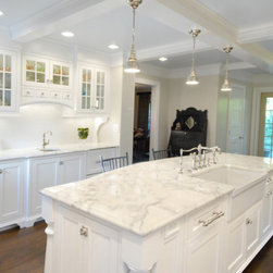 Calacatta Marble Counter Tops - Beautiful Calacatta Marble counter tops custom crafted by Custom Marble & Granite of Butler, PA and the cabinetry was designed and built by Acclaimed Kitchens of PA.