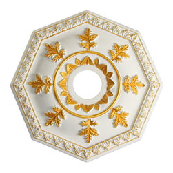 uDecor - MD-5383-C1 Ceiling Medallion - Ceiling medallions and domes are manufactured with a dense architectural polyurethane compound (not Styrofoam) that allows it to be semi-flexible and 100% waterproof. This material is delivered pre-primed for paint. It is installed with architectural adhesive and/or finish nails. It can also be finished with caulk, spackle and your choice of paint, just like wood or MDF. A major advantage of polyurethane is that it will not expand, constrict or warp over time with changes in temperature or humidity. It's safe to install in rooms with the presence of moisture like bathrooms and kitchens. This product will not encourage the growth of mold or mildew, and it will never rot.