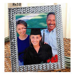 Godinger Silver - 8x10 Weave Picture Frame - Nice memories deserve an even nicer presentation. Place any photo inside and this frame is certain to complement it. Made of silver plated material to ensure quality and durability. Display as your table centerpiece or tabletop decor and get ready for some warm compliments. Dimensions: 10x12 inches.