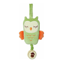 miYim - miYim My Natural Musical Pull Toy Owl, Green - Made from all natural materials that plays soothing musical plays twinkle, twinkle, little star. This is a gift you can feel good about giving your little loved one