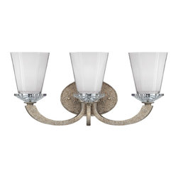 Savoy House Lighting - Savoy House Lighting 8-1557-3-122 Forum 3 Light Bathroom Vanity Lights in Gold D - This eye-catching collection has an open, clean design with a lustrous Gold Dust finish and polished K9 crystal accents.