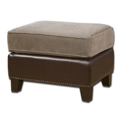 "23059 Dillard, Ottoman by uttermost - Get 10% discount on your first order. Coupon code: ""houzz"". Order today."