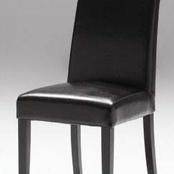 "Mobital - Garcia Parsons Chair (Set of 2) - Features: -Durable bycast leather upholstery.-Solid wood construction.-Collection: Garcia.-Distressed: No.-Powder Coated Finish: No.-Gloss Finish: No.-Frame Material: Wood.-Solid Wood Construction: Yes.-Non-Toxic: Yes.-Scratch Resistant: No.-Rust Resistant: No.-Stain Resistant: Yes.-Fire Retardant: Yes.-Mildew Resistant: Yes.-Arms Included: No.-Upholstered Seat: Yes -Seat Upholstery Material: Bycast leather.-Removable Seat Cushions: No.-Removable Seat Cushion Cover: No.-Tufted Seat Upholstery: No.-Welt on Seat Cushions: No..-Upholstered Back: Yes -Back Upholstery Material: Bycast leather.-Removable Back Cushions: No.-Back Cushion Fill Material: Foam.-Removable Back Cushion Cover: No.-Tufted Back Upholstery: No.-Welt on Back Cushions: No..-Nailhead Trim: No.-Swivel: No.-Foldable: No.-Stackable: No.-Number of Legs: 4.-Leg Material: Birch Wood.-Casters: No.-Protective Floor Glides: Yes.-Adjustable Height: No.-Ergonomic Design: No.-Saddle Seat: No.-Outdoor Use: No.-Weight Capacity: 250 lbs.-Swatch Available: No.-Commercial Use: Yes.-Recycled Content: No.-Product Care: Clean product with a damp cloth and mild detergent.Specifications: -FSC Certified: No.-ISTA 3A Certified: Yes.-General Conformity Certificate: Yes.-Green Guard Certified: No.-ISO 14000 Certified: Yes.Dimensions: -Overall Height - Top to Bottom: 36"".-Overall Width - Side to Side: 17"".-Overall Depth - Front to Back: 22"".-Seat Height: 18"".-Seat Width - Side to Side: 17"".-Seat Depth - Front to Back: 16"".-Overall Product Weight: 24 lbs.Assembly: -Assembly Required: No.-Additional Parts Required: No.Warranty: -Product Warranty: One year warranty against manufacturer defects."