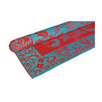 KOKO - Brocade Duo-Tone Floor Mat, Red/Turquoise - These color combos are so fun. You will love the eclectic look for a porch, since the material is weather proof and ideal for easy cleanup. What a festive way to welcome guests.