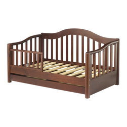 Sorelle - Sorelle Grande Solid Pine Toddler Bed in Cherry - Sorelle - Toddler Beds - 787CH - Look to Sorelle Furniture for elegant toddler beds in cherry, espresso, and oak on pine. Sorelle toddler beds are made of solid pine wood giving the it the durability to last. They can work with a spectrum of traditional and contemporary decor themes. Toddler beds from Sorelle feature solid craftsmanship, designed to meet the highest crib safety standards.