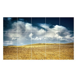 Picture-Tiles, LLC - Sky Clouds Photo Wall Back Splash Tile Mural  18 x 30 - * Sky Clouds Photo Wall Back Splash Tile Mural 1428