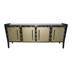 Vintage Cabinets & Consoles - 1940 Elegant One of a Kind Italian Murano Glass Cabinet / Sideboard.