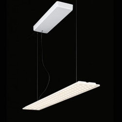 "Nimbus - Nimbus Modul L 112 suspension light - additional indirect light - The Modul 112 LED suspension lamp is designed and made in Germany by Nimbus.This modern suspension lamp is designed for use in either the home or office. Composed of an aluminum body with a glass diffuser and suspension cables made of steel. Illumination is provided by an eco friendly 26W 24V LED array available in three color temperatures, (544-826) 2700k, (544-827) 3000k or (544-828) 4000k.         Product Details: The Modul 112 LED suspension lamp is designed and made in Germany by Nimbus.This modern suspension lamp is designed for use in either the home or office. Composed of an aluminum body with a glass diffuser and suspension cables made of steel. Illumination is provided by an eco friendly 26W 24V LED array available in three color temperatures, (544-826) 2700k, (544-827) 3000k or (544-828) 4000k. Details:                         Manufacturer:            Nimbus                            Designer:            Nimbus                            Made in:            Germany                            Dimensions:            Height: 78.7"" (200 cm) X Width: 35"" (88 cm) X Depth: 13.5"" ( 5.3 cm)                            Light bulb:            26W 24V LED Array 2700K, 3000K, 4000K                            Material:            Aluminum, Steel, Glass"