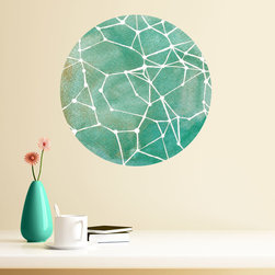 My Wonderful Walls - Teal Constellations Wall Decal - Astronomy Art by Elise Mahan, Small - - Product:   astronomy wall decal
