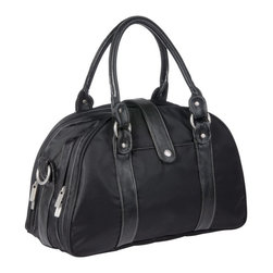 Lassig - Lässig Glam Shoulder Diaper Bag - 2001412 - Shop for Diaper and Bottle Bags from Hayneedle.com! No one will know that you're carrying a diaper bag with the beautiful and sophisticated Lässig Glam Shoulder Diaper Bag. Designed to look like a stylish purse on the outside on the inside you'll find two large compartments which open up to reveal a number of nooks and zipper pockets for organizing your and your baby's things. Made to help keep you organized one side of the main pocket holds a water proof changing pad zipper wet pocket for storing damp items a button pocket and two removable elastic pockets perfect for lotion or other small essentials while the second main pocket has a zipper pocket within as well as three large mesh pockets to hold various toys small books and just about anything else you and your baby need on the go. Also Included is an insulated bottle holder to keeps drinks hot or cold and a small zipper pouch for coins or make-up. Two small external pockets are perfect for storing a pacifier or other items you may need to keep close at hand. Sturdy carrying handles are secured with sleek metal loops on each side so you can comfortably carry this bag around or use the extra included strap for wearing over the shoulder. This bag also has stroller clips so you can easily hook it on the stroller while you're out. Made of lightweight yet durable polyester fabric all materials used to manufacture Lassig bags are free of PVC AZO Phthalates Nickel and Cadmium. Additional Features Zipper wet pocket for damp clothes Insulated bottle holder Button pocket 2 removable elastic pockets Pockets part of a removable bag with separate handle Separate small zippered pouch 2nd compartment has zipper pocket Also features 3 large mesh pockets About LässigGerman for casual Lässig is not only the company's motto but a lifestyle for the whole family. L&aumlssig believes in living with spirit and style and their goal is to design beautiful functional products and manuf