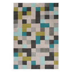 "Jaipur - Contemporary Fusion 3'6""x5'6"" Rectangle Classic Gray Area Rug - The Fusion area rug Collection offers an affordable assortment of Contemporary stylings. Fusion features a blend of natural Classic Gray color. Hand Tufted of 100% Polyester the Fusion Collection is an intriguing compliment to any decor."