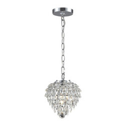 Sterling Industries - Sterling Industries 142-001 Craig 1 Light Pendants in Clear And Chrome - Craig-1Light Mini Pendant Lamp In Clear