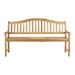 Safavieh - Mischa Bench - Stop and smell the roses. Crafted with warm brown acacia wood and galvanized steel, the Mischa Bench�s soft, Asian-inspired style is a charming outdoor companion�not just a fair-weather friend.