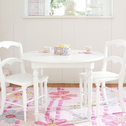 Finley Play Table & Chairs - This is my favorite set by Pottery Barn Kids. The proportions of the table are perfect.