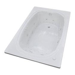 Arista - Caravaggio 48 x 78 Air & Whirlpool Drop-In Bathtub w/ Center Drain - Left Pump - DESCRIPTION