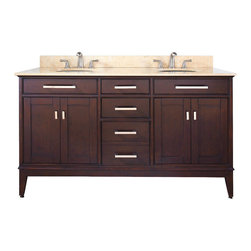 "Avanity - MADISON 60"" Vanity Only (Light Espresso) - MADISON 60"" Vanity Only (Light Espresso)"