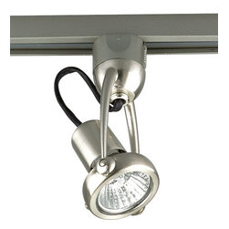 Progress Lighting - Progress Lighting P6115-09WB Track Lighting Track Head Brushed Nickel - *Line voltage head Width/Diameter: 2 7/8 inches Height: 5 1/4 Lamp Type: MR16 120V GU10 (bulb included) Lamp Wattage: 50w max