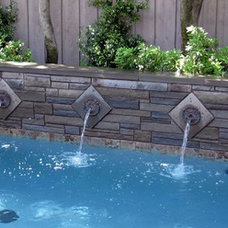 Contemporary  by Reynolds Landscape and Pools