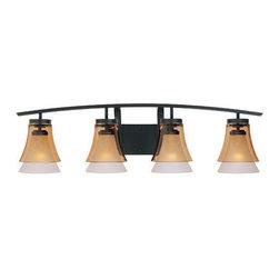 Designer Fountain - Majorca 4-Light Bath Bar - 4-Light Bath Bar