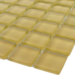 GlassTileStore - Sample-Loft HoneySuckle 1x1 Glass Tile Sample - Sample-Loft HoneySuckle 1x1 Glass Tile 1/4 Sample  Please note you are purchasing 1/4 of a sheet sample.     -Glass Tiles -